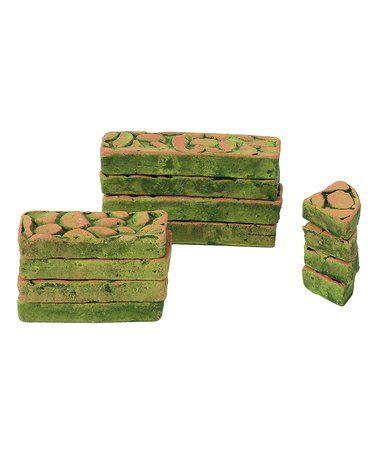Perfect for the fairy garden -  SALE $12.99 Green Miniature Garden Paver - Set of 12 #zulily #zulilyfinds