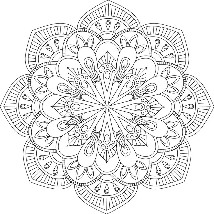 The Word Gati Refers To One Of Four Destinies Or Realms Mandala ColoringAdult Coloring PagesColoring