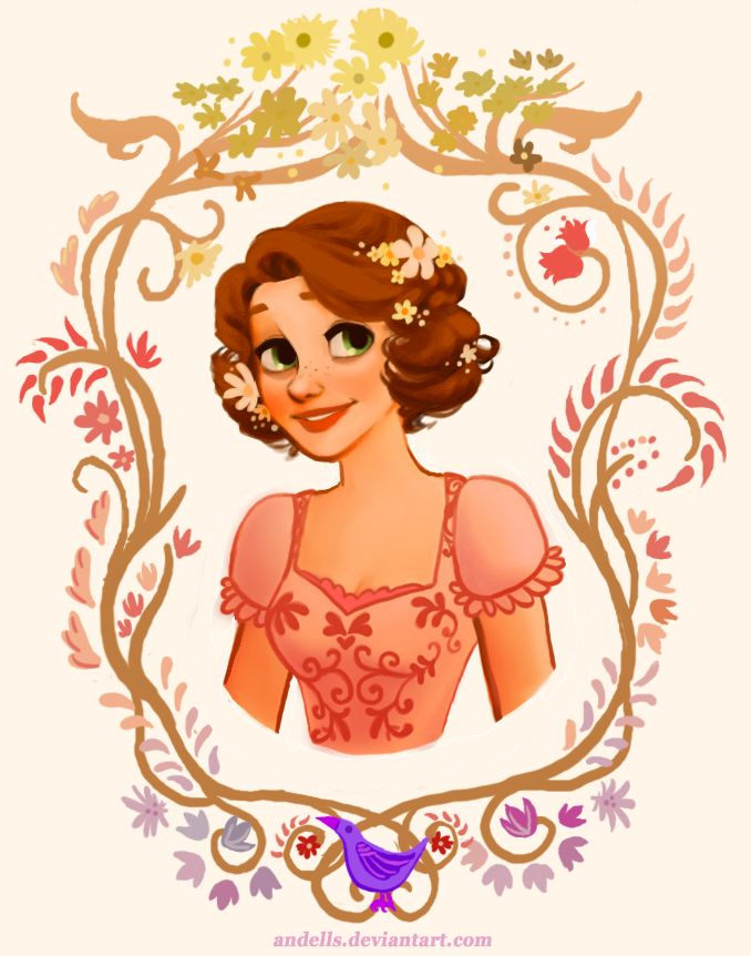 Rapunzel - I actually like her short hair here. Why couldn't they have done something like this in the movie?