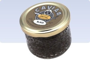 Osetra Royal Black Caviar - Royal Black Osetra Caviar, Acipenser gueldenstaedtii, is a Russian Sturgeon caviar that is harvested from the Caspian and Black Seas; it is a Grade 1, or 'B' caviar - a darker grain that one would expect from classic Osetra caviars.