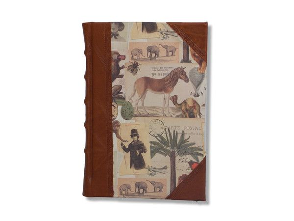 Handcrafted Half Leather Journal - Safari #travel #leather