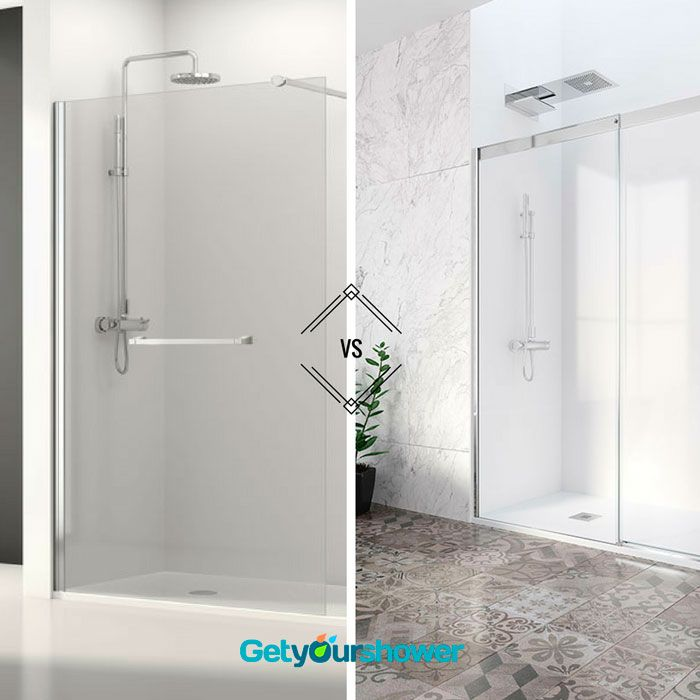 ⇛ Walk-in VS. Sliding doors Do you prefer fixed or sliding doors? Choose the most comfortable type to enjoy in your #shower area