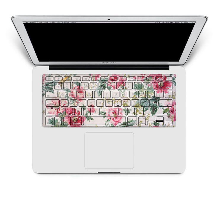 Sticker pour clavier : motif fleurs n°3