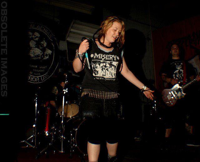 sara atu+ short+ legging+ crust punk+ misery index+ crust punk