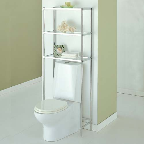 organize it bathroom over the toilet spacesaver shelves glacier chrome storage - Over The Toilet Bathroom Organizers