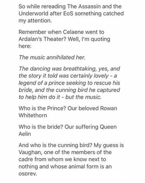The Assassin's Blade and Empire of Storms. Omg Sarah and her foreshadowing! **Celaena **Adarlan I'm sorry but I needed to correct the spelling mistakes because they bother me.