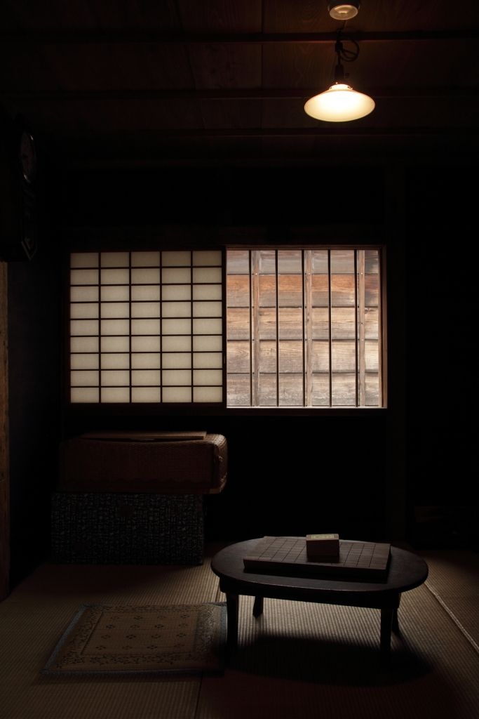 traditional room with a Japanese game Shogi board.
