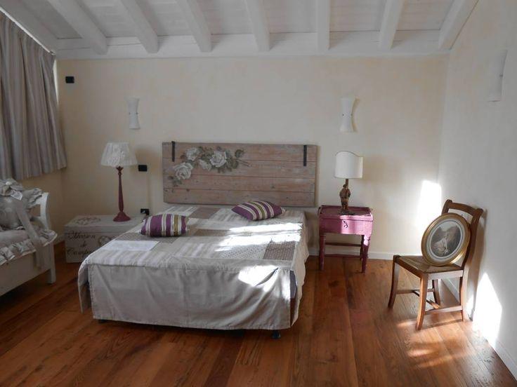 Great testiera letto fatta con una porta vecchia with - Testiere imbottite per letto ...