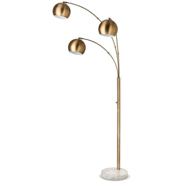 3 Globe Arc Floor-Lamp Antique Brass -Threshold (140 HRK)