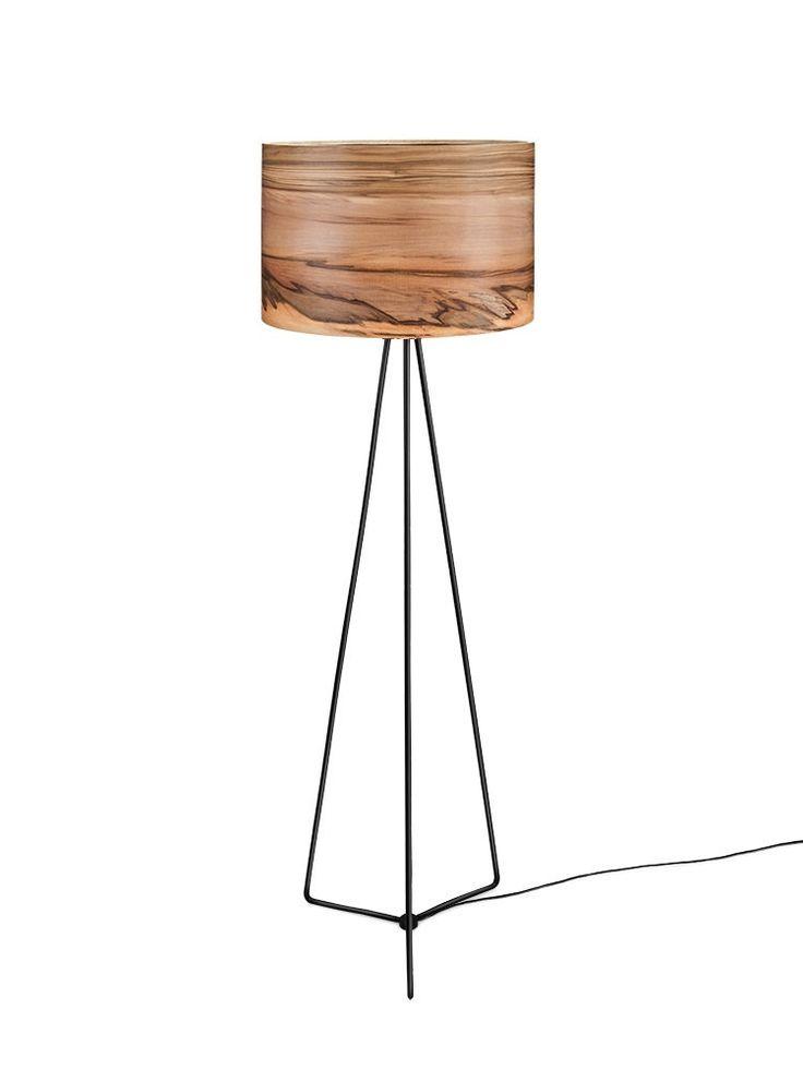 Lámpara de piso de madera lámparas de madera por Sponndesign