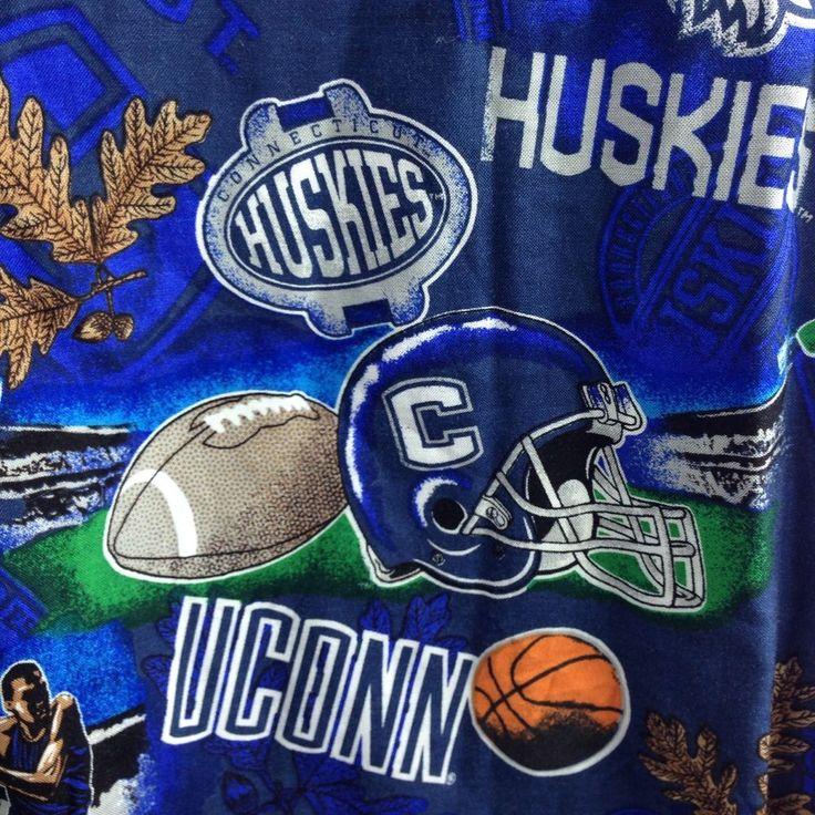 UConn Connecticut Huskies Basketball Football NCAA Sports Mens Hawaiian XL Shirt #NCAA #ButtonFront