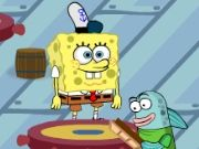 Play as Spongebob and help him manage the Krusty Krab! Bring the customers to the tables, take their orders and bring the food out. Reach the goal each day to progress and buy upgrades to help you out!