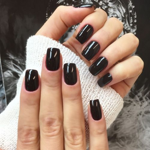 -Rebecca Waith- #black #shellac #nails