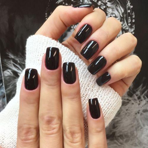 Dark perfect nails ♡
