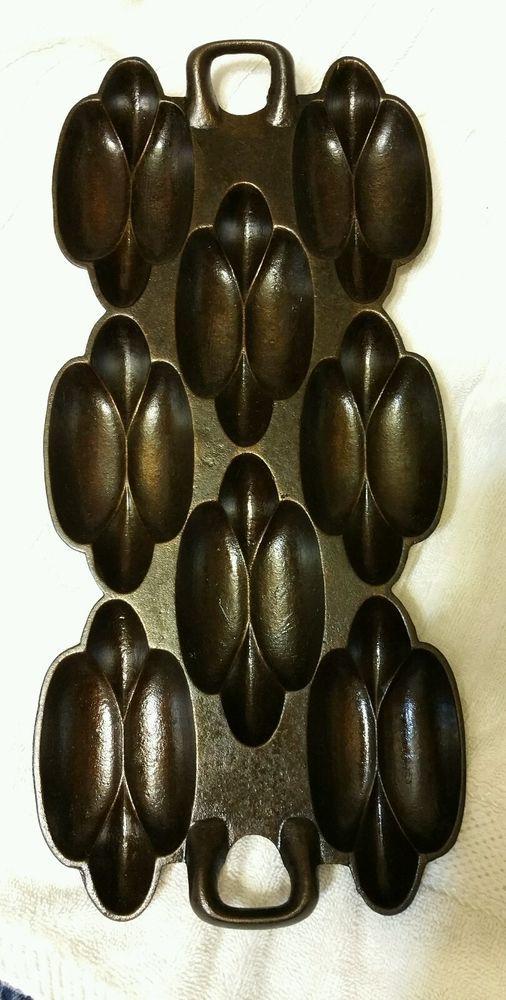 G.F. FILLEY CAST IRON GEM PAN #4 1800's RAREST OF ALL GEM PANS