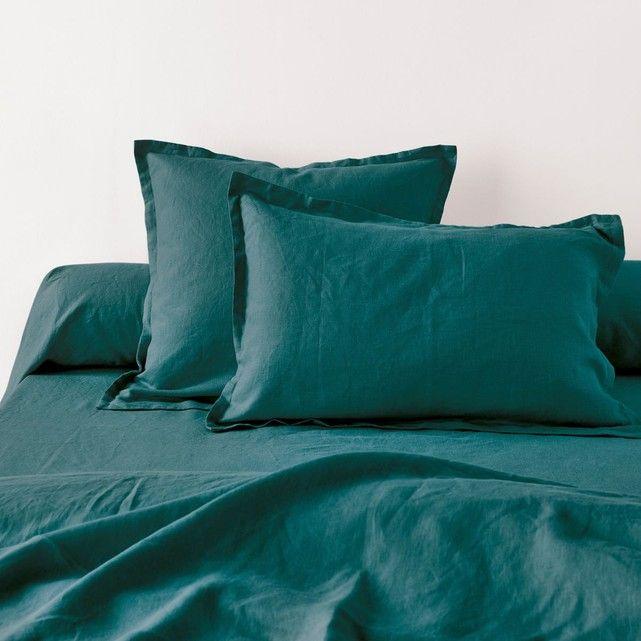 Taies d'oreiller unies en pur lin lavé La Redoute Interieurs : prix, avis & notation, livraison.  Taies d'oreiller carrée et rectangulaire (volant plat de 2 cm) et taie de traversin, qualité BEST, en pur lin lavé et légèrement froissé. Quel délice de s'endormir sur une taie d'oreiller en lin, LA matière sensuelle par excellence ! C'est doux, léger, frais l&...