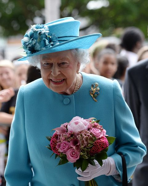 Queen Elizabeth II visits the Abbey Leisure Centre in Barking as part of celebrations to mark Barking and Dagenham's 50th anniversary as a London Borough on July 16, 2015 in Barking, London, United Kingdom.