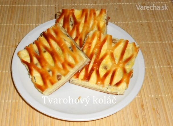 Mriežkovaný tvarohový koláč s netradičnou plnkou (fotorecept) - Recept