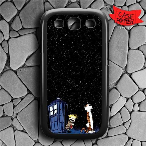 Night Stars Calvin And Hobbes Samsung Galaxy S3 Black Case
