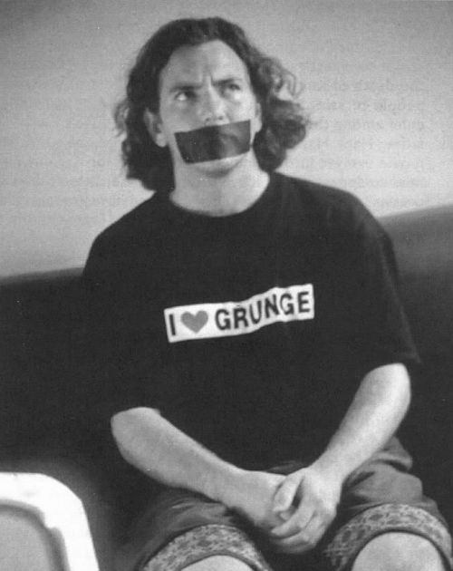 eddie vedder. i love grunge