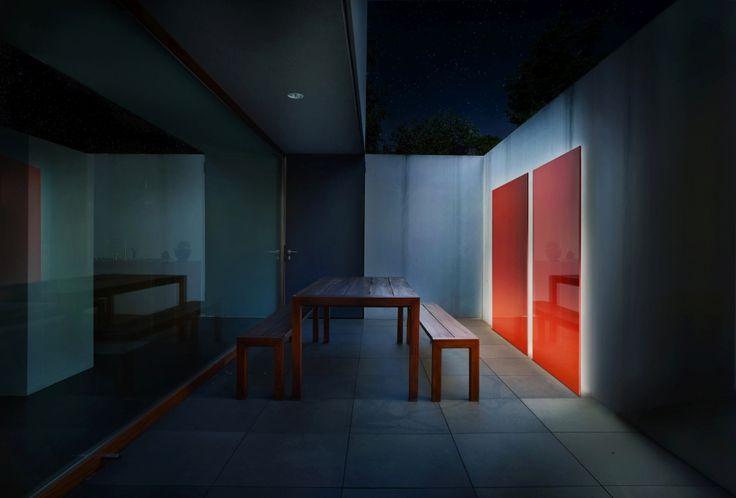 Knumox Stele Design Im Garten Beleuchtet. Ist Besonders Schön Für Eine  Puristische Gartengestaltung!