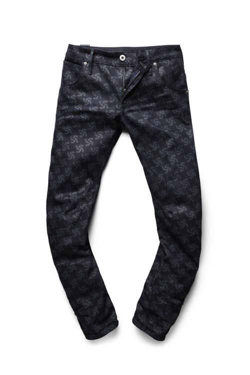 "G-Star RAW's ""Printed Arc 3D Slim Tapered denim"" from the RAW for the Oceans 2014 collection, a collaboration between G-Star RAW and partners Bionic Yarn and Parley for the Oceans."