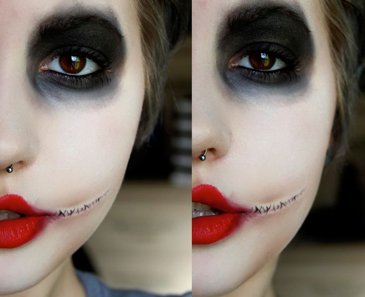 Awesome Joker makeup, for future costume party reference, could also be used for a Jeff the Killer cosplay......... ;)