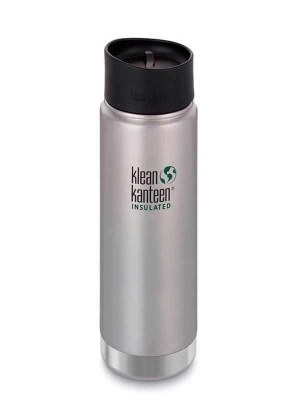 Vand- og termoflasker - Klean Kanteen termokrus i rustfri stål med lækkefrit drikkelåg, stål, 592 ml - Klean Kanteen - gågrøn