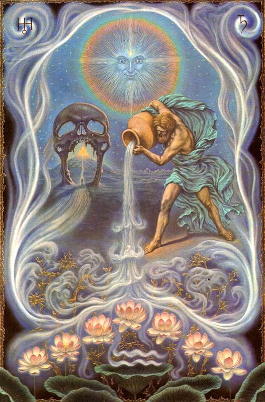 Johfra Bosschart,  Zodiac signs - Aquarius (Zodiakserie - Waterman, January 23, 1975)