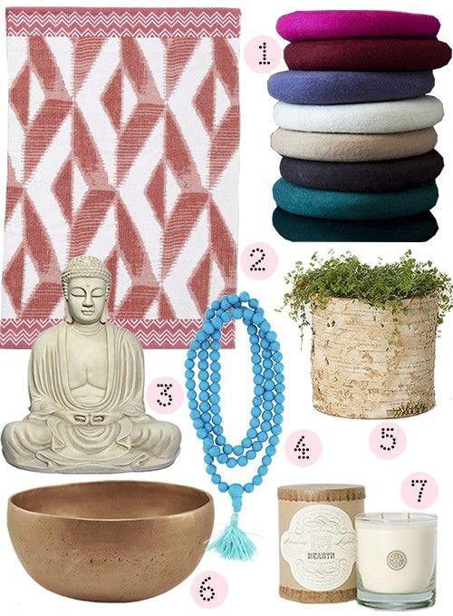 lovely post on some basics to consider when putting together a meditation space in your home