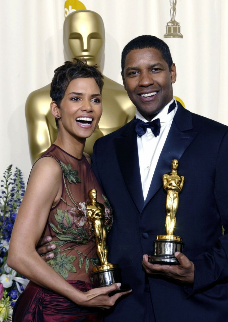 Halle Berry & Denzel Washington - lead movie role Oscar winners at the Academy Awards