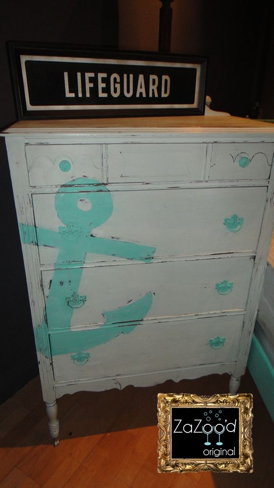 Antique Hand Painted Anchor Dresser White And Tiffany Add Nautical Flair To Any Room With A Custom Piece Like This One Coastal Charm In 2018