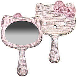 Crystal Dipped Handheld Mirror Made With Swarovski Elements $350 -- Mirror Mirror in my wall, this is the most expensive mirror of them all. lol