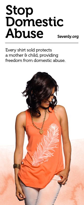 ALARMING FACT: Every 15 seconds a woman is abused physically, emotionally or sexually in her own home. For these victims, the chance to live in an anonymous safe house is the light at the end of their tunnel. Help a mother and child escape abuse HERE -> www.sevenly.org/Dale