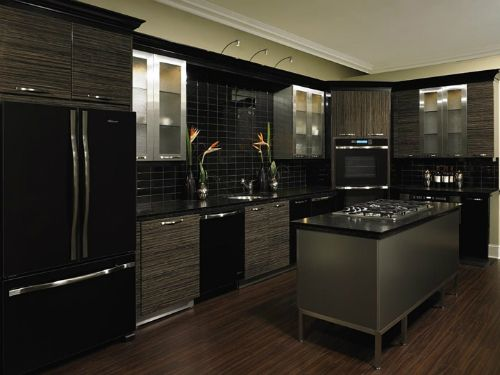 black-and-silver-kitchen-designs-925 (500×375) | home