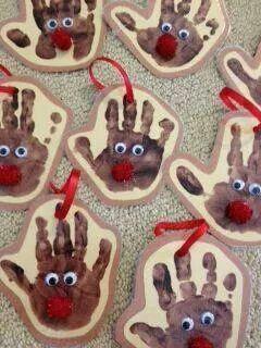 reindeer hand prints