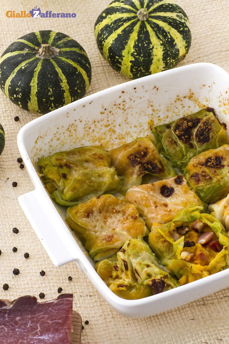 involtini di cavolo alla zucca con speck da servire come antipasto in autunno GialloZafferano