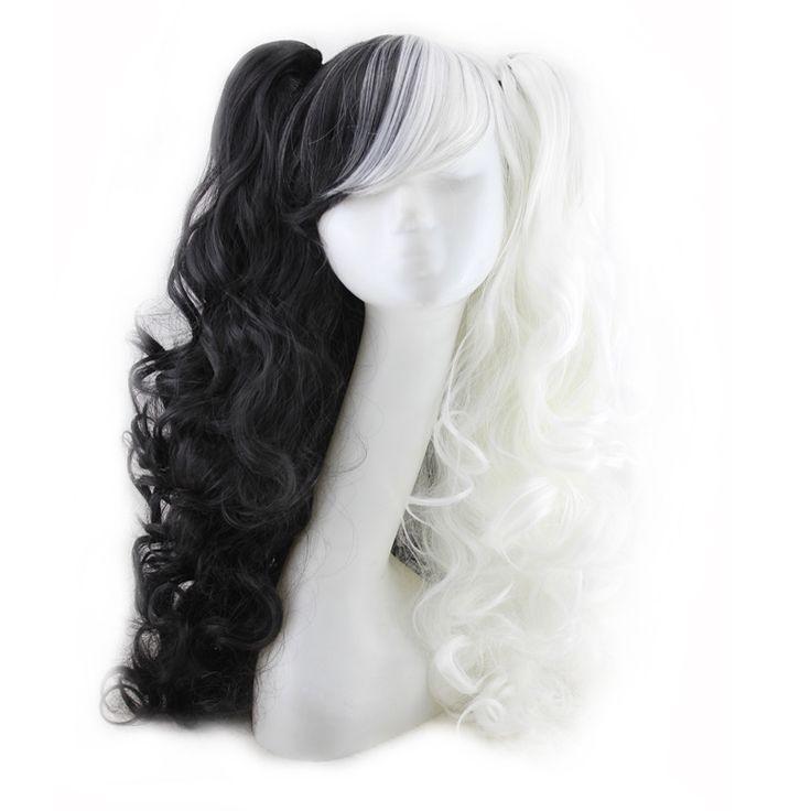 $32.82 (Buy here: https://alitems.com/g/1e8d114494ebda23ff8b16525dc3e8/?i=5&ulp=https%3A%2F%2Fwww.aliexpress.com%2Fitem%2F60-Cm-Harajuku-Lolita-Wig-Anime-Cosplay-Curly-Wavy-Clip-On-2-Ponytails-Synthetic-Hair-Black%2F32681651539.html ) 60 Cm Harajuku Lolita Wig Anime Cosplay Curly Wavy Clip On 2 Ponytails Synthetic Hair Black Mixed White Peruca Peruke H024 for just $32.82