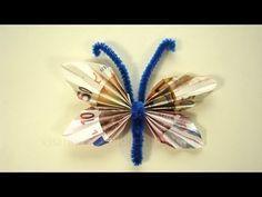 ▶ Geldscheine falten, Geldgeschenke: Schmetterling - YouTube