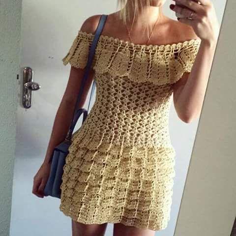 Vestido de crochê, Lindíssimo CLIQUE NA FOTO PARA AMPLIAR (9651)