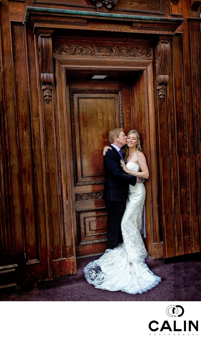 Photography by Calin - Bride and Groom Portrait at King Edward Hotel Wedding: Location: 37 King St E, Toronto, ON M5C 1E9.