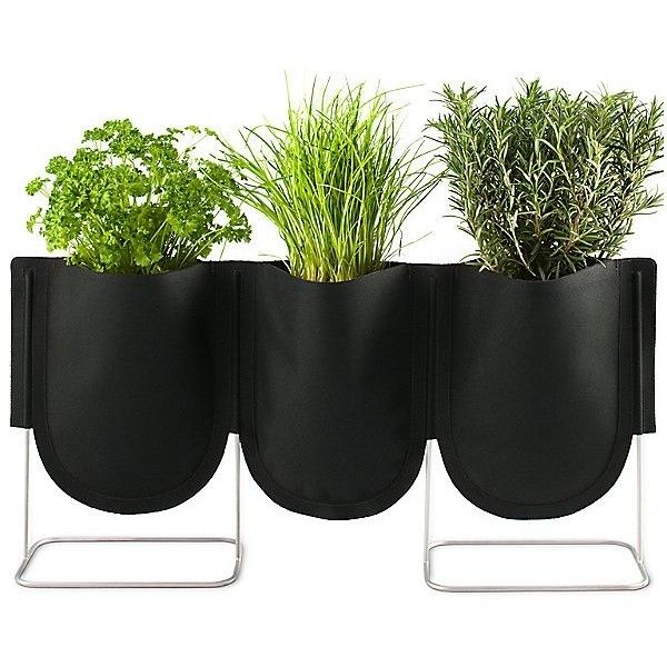 Authentics Urban Garden Plant Bag Set of 3 found on Polyvore featuring home, outdoors, garden tools en black