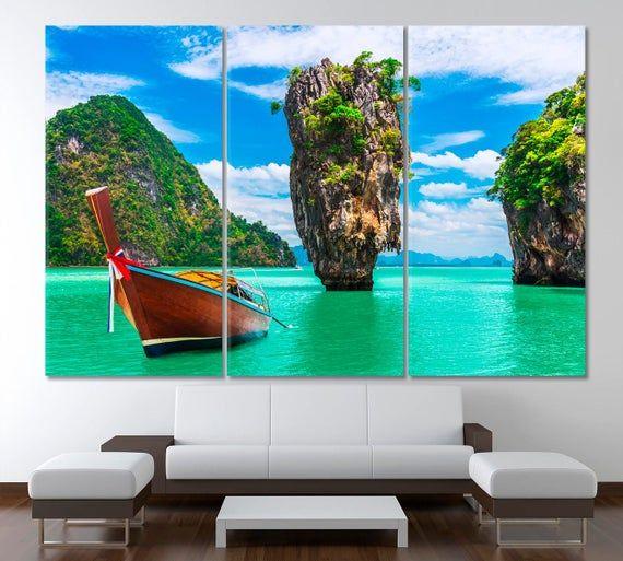 Tropical Beach Wall Art Island Wall Decor Amazing Landscape Art