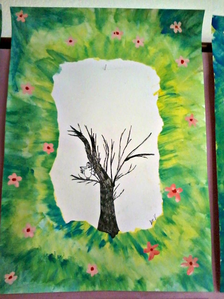 Tvoříme s dětmi ☺: Jarní strom