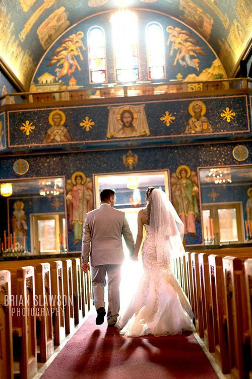 Photo by Brian Slawson Photography. St. Sava Serbian Orthodox Cathedral in Milwaukee, WI. #ceremony #wedding