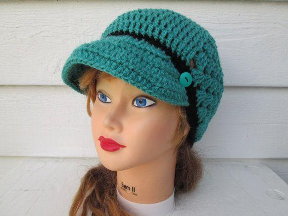 Newsboy woman visor hat Crochet Hat Winter Hats Knit Buckle Beanie brimmed womens winter hats Driver Cap All Season BEANIE womens winter hat