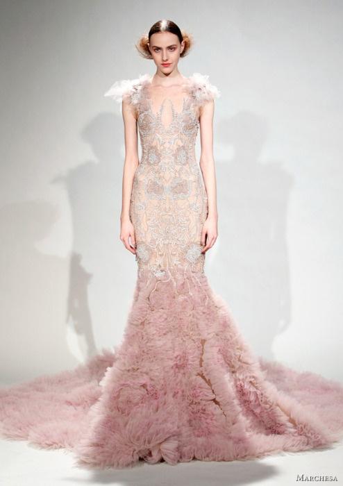 Marchesa.Pink Wedding, Wedding Dressses, Blushes Wedding Dresses, Fashion, Inspiration, Couture, Wedding Gowns, Bridal Gowns, Marchesa Fall