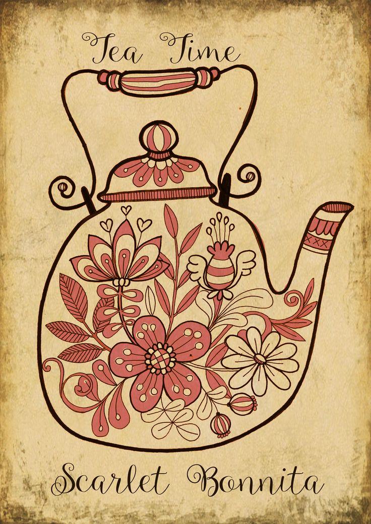 Tea time Illustrations