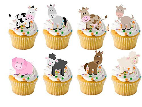 24 x Farm Yard Animals Childrens Farm yard STAND UP STANDUPS Fairy Muffin Cup Cake Toppers Decoration Edible Rice Wafer Paper Harold's Bakeware http://www.amazon.co.uk/dp/B00OTTQ5Y8/ref=cm_sw_r_pi_dp_ooY6vb03Q9B7G