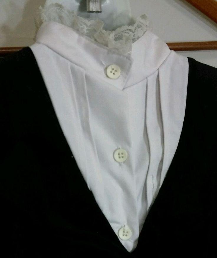 Jac Costume School Marm Teacher Dress Girls 7-10 High Collar Button Front #Jac #Dress